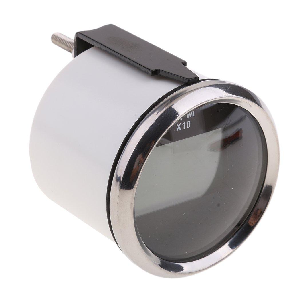 Impermeabile Con Contaore Chrome Bianco Shiwaki Calibro Per Imbarcazione Marino Con Contagiri Digitale Da 2 Pollici 52 Mm