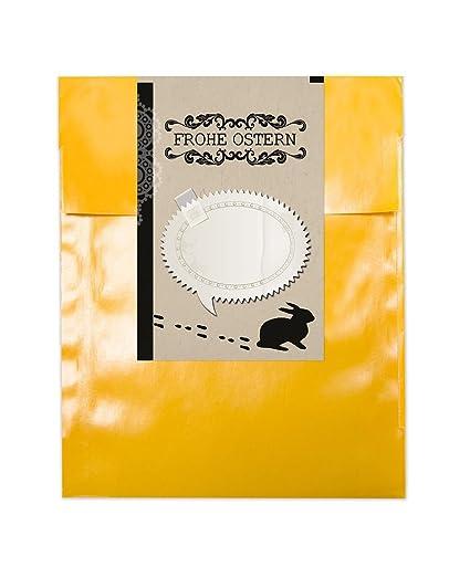 10 amarillas pequeñas bolsas Pascua; planas bolsas de papel ...