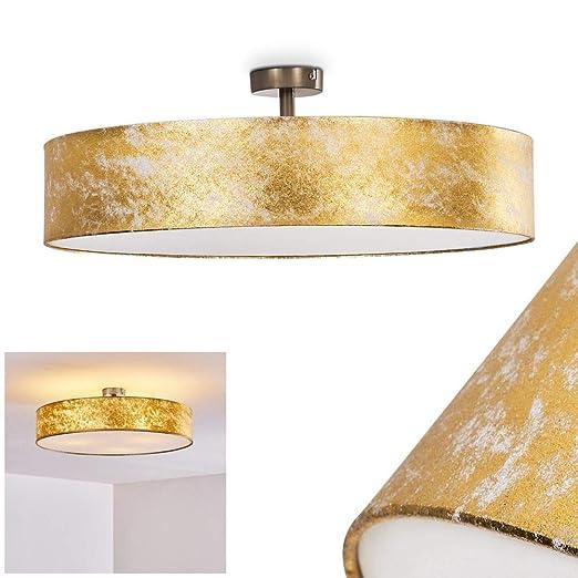 Lámpara de techo Foggia color dorado, 60 cm, 3 x 40W max ...