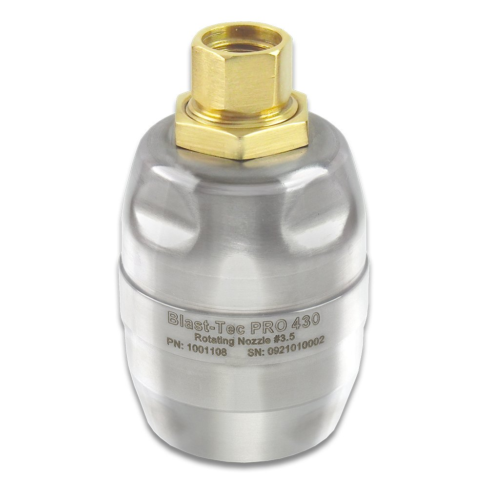 Hydra-Flex, Inc. Blast-Tec Pro 430 Rotating Turbo Nozzle, 1000 PSI, 30 Degree, 1/4'' FNPT Inlet (3.5) by Hydra-Flex, Inc.