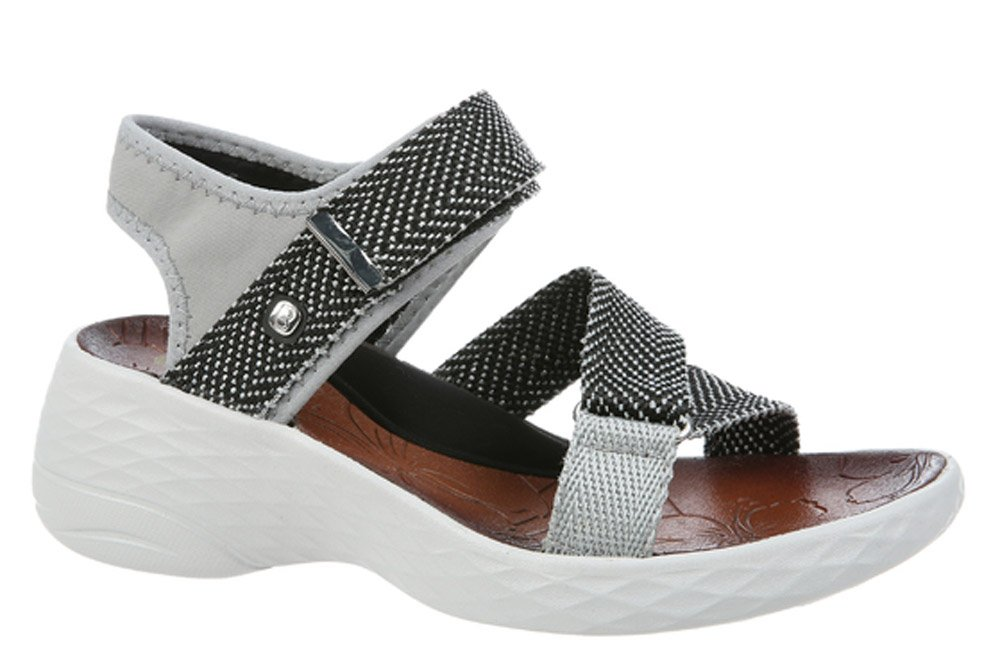 BZees Women's Jive Sport Sandal B071G3SBW7 8 W US|Grey