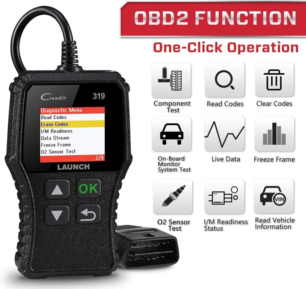 unterst/ützt Mode6 LAUNCH OBD2 Diagnose CR319 Scanner Ger/ät Universal Automotor Fehlercode-Leseger/ät,O2-Sensor und EVAP Systeme /Überpr/üft