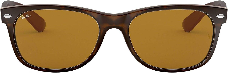 Ray-Ban New Wayfarer - Gafas de sol para hombre, Color Marrón (Light Havana), Talla 55 mm