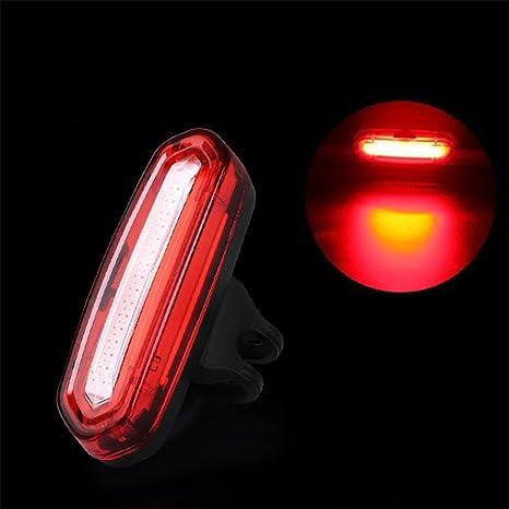 Luz trasera de bicicleta de carga USB nocturnas a testigo LED,un ...