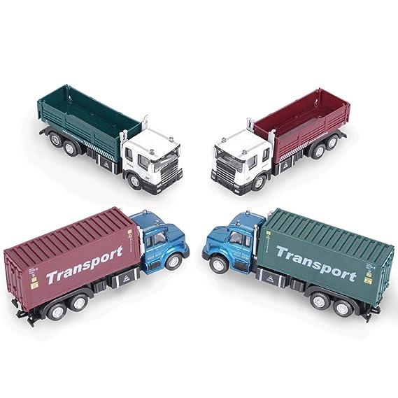 GPTOYS Jouet Voiture Véhicules de Transport Logistique à Friction Transport Voiture Cadeau de Noel (1 Camion de Couleur Livraison Aléatoire )