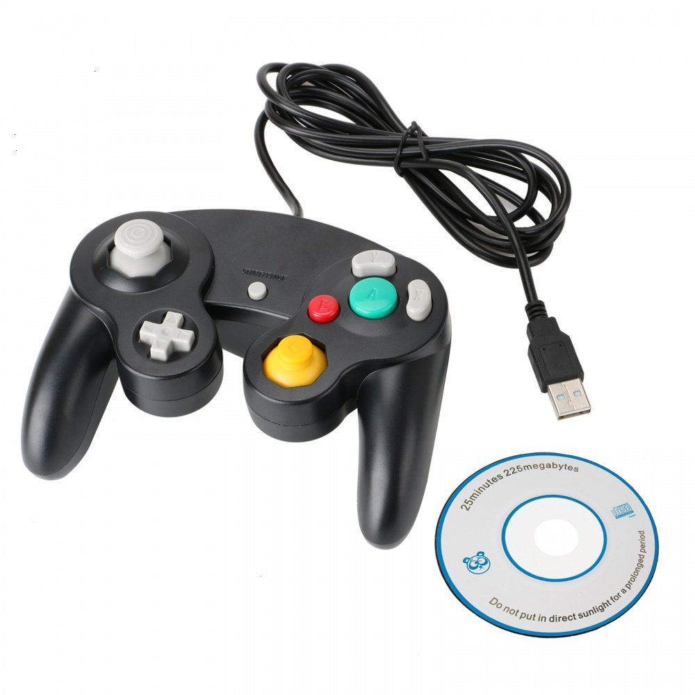 Mosuch Classic Gamecube USB Wired Controller Play on PC and Mac For Nintendo Black