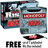 Walking Dead: Risk and Monopoly Combo Pack with free Wiz Dice