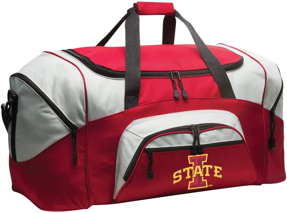 Broad Bay Small ISU Cyclones Duffel Bag Iowa State Gym Bags or Suitcase