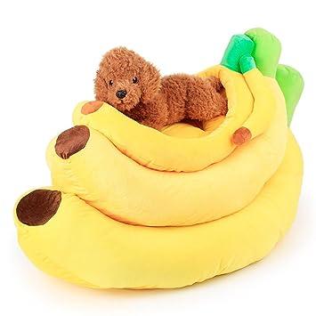 bigsea Frutas Banana-Shaped Base Pad Perrera Perro de Mascota Cama: Amazon.es: Productos para mascotas