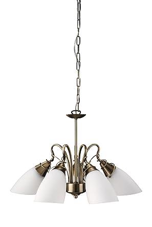 Massive 37721/06/10 Egmo - Lámpara de techo de 5 focos (60 W, 230 V), color bronce