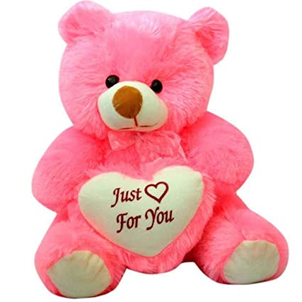38c892ac7e4 Buy Growth Creation 2 Feet Sitting Soft Cute Teddy Bear with Love Heart  Just for You - 60 cm (Pink) Online at Low Prices in India - Amazon.in
