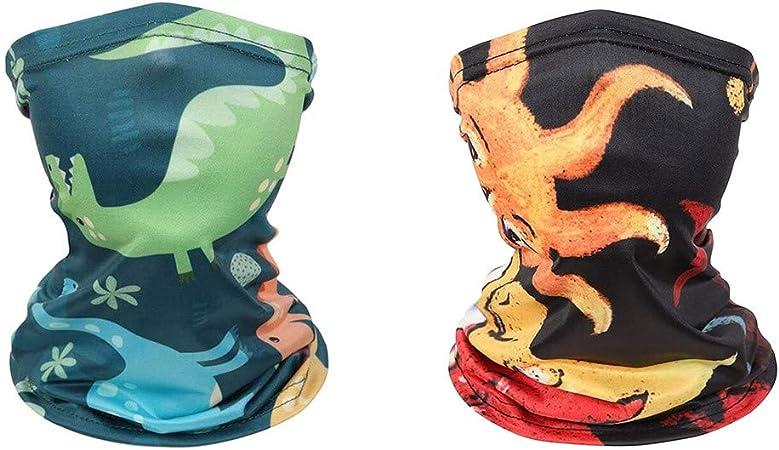 MANDIY USA in Stock 1//2//4PC Outdoor Kids Face Bandanass Washable Reusable Breathable Neck Gaiter Bandanas Sun Protection