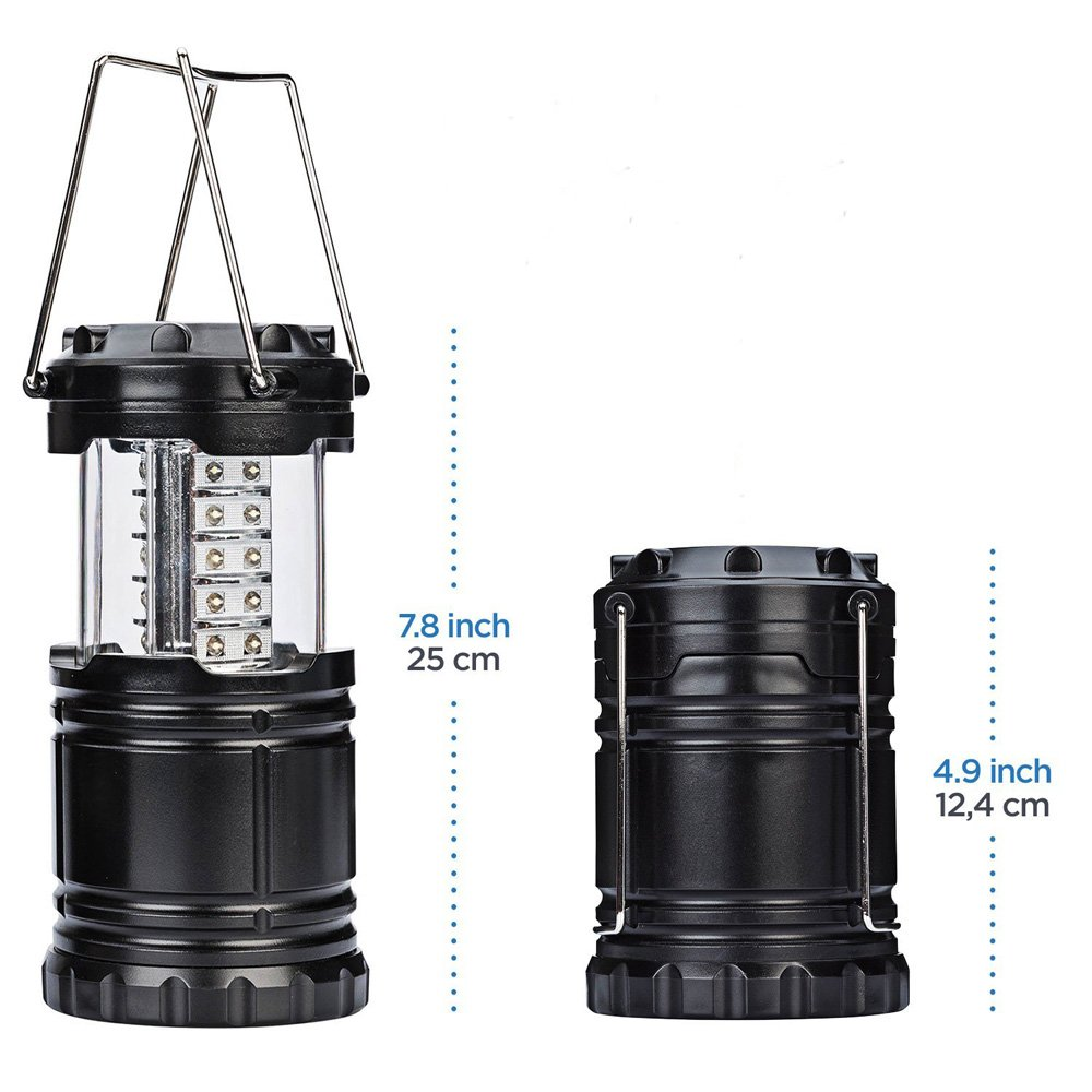 Portable Camp Equipment for Outdoor,Hiking,Emergencies,Hurricanes,Outages Yking 30 Individual LED Lights Camp Lantern