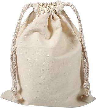 Bolsas de Cordón de Algodón, Bolsa de Tela para Saco de lavandería con cordón de algodón para el hogar, para Uso doméstico de Viaje(22 * 28cm): Amazon.es: Juguetes y juegos