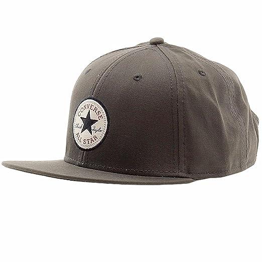 691854b92f7 Converse Mens Chuck Taylor All Star Patch Snapback Flat Brim Hat Grey  CON033-GREY