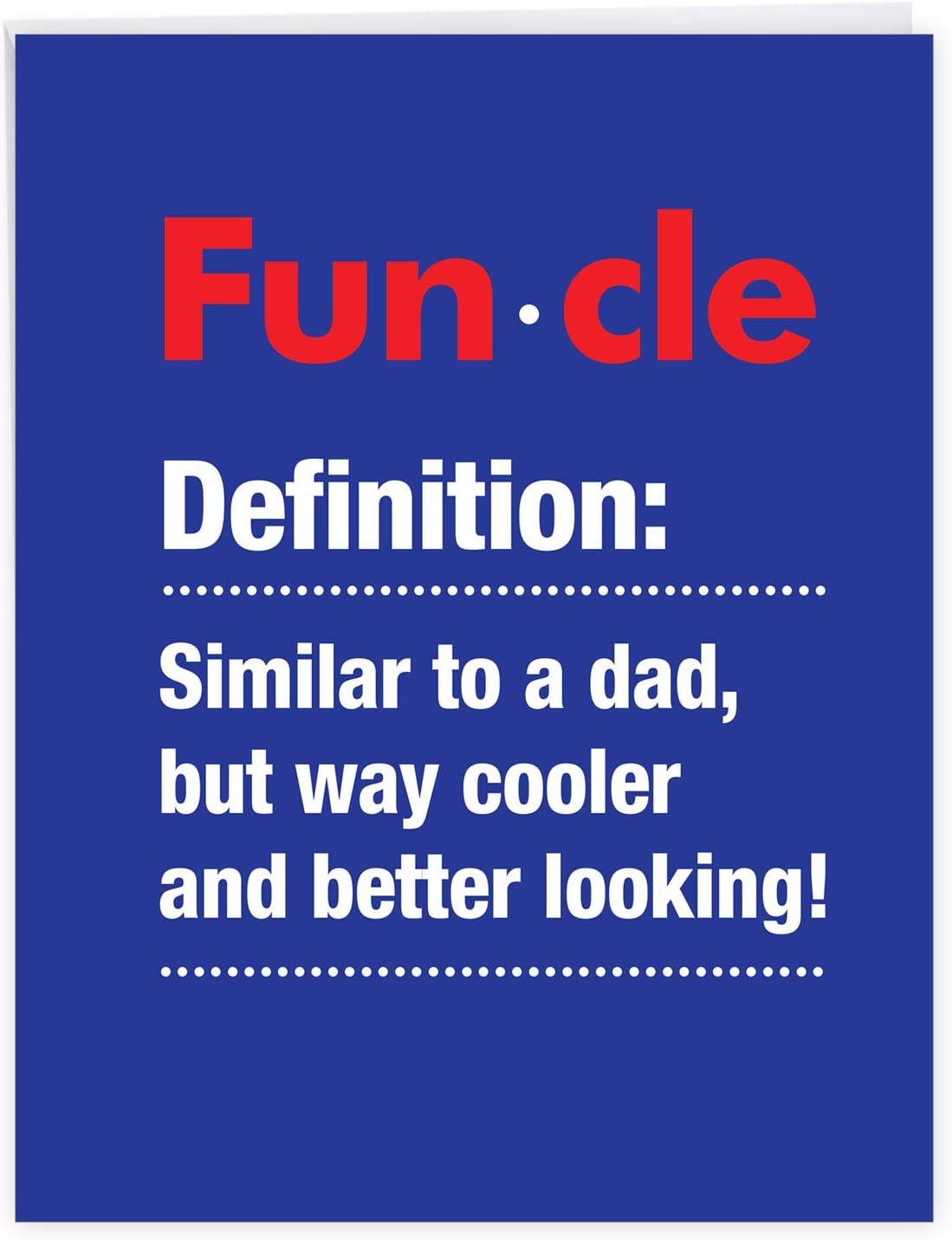 Amazon Com Nobleworks Funcle Funny Happy Birthday Card For Uncle Bday Notecard With Envelope Big 8 5 X 11 Inch J7232bdg Us Office Products