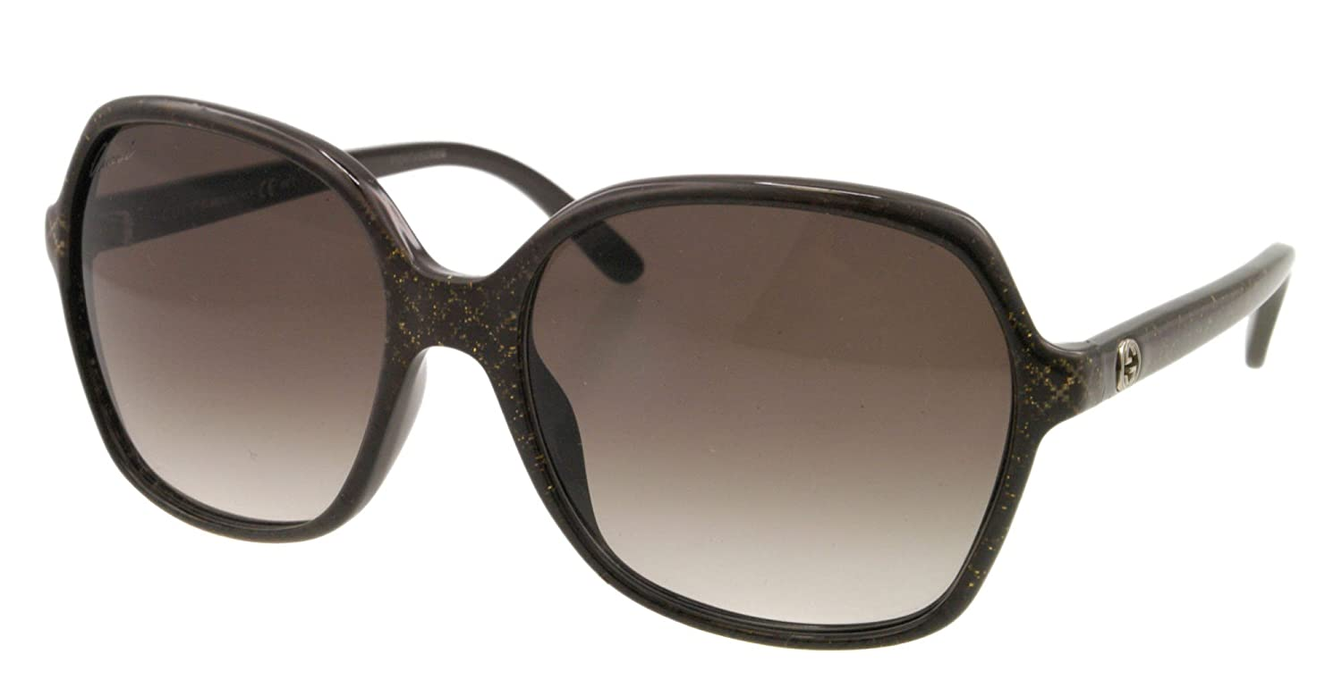 bf5a95f1c69 Gucci 3632S DXJ Brown and Glitter 3632S Square Sunglasses Lens Category 2   Amazon.co.uk  Clothing