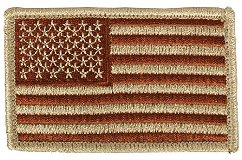 System 2 Flag (USA Flag Embroidered Hook and Loop Shoulder Patch - 3.5