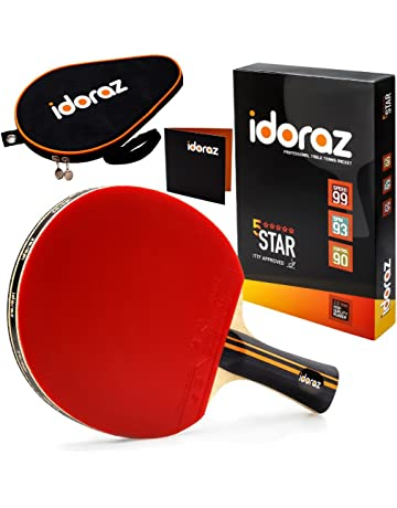 446ebbb1a5d8 Idoraz Table Tennis Paddle Professional - Ping Pong Racket with Carrying  Case – ITTF Approved Rubber