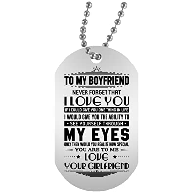 Amazon Boyfriend Necklace Pendant Customized