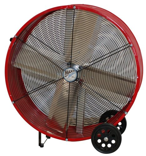 MaxxAir BF36DD RED High Velocity Direct Drive Drum Fan, 36-Inches, Red by Maxxair