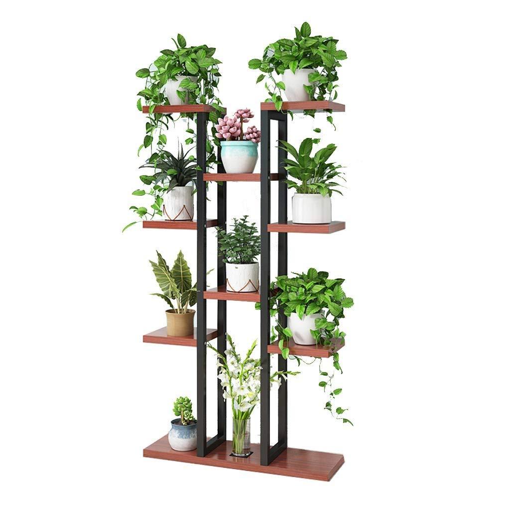 多層植木鉢植物スタンド、金属製縦型ディスプレイスタンド、多機能収納ラック、理想的なテラス、オフィス、ポーチ、バルコニー、庭 (色 : #1) B07RSL7844 #1