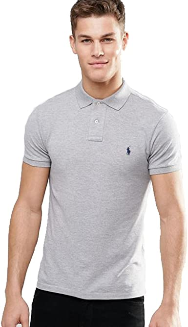 Ralph Lauren Polo Small Pony Slim Fit (M, Gris): Amazon.es: Ropa ...