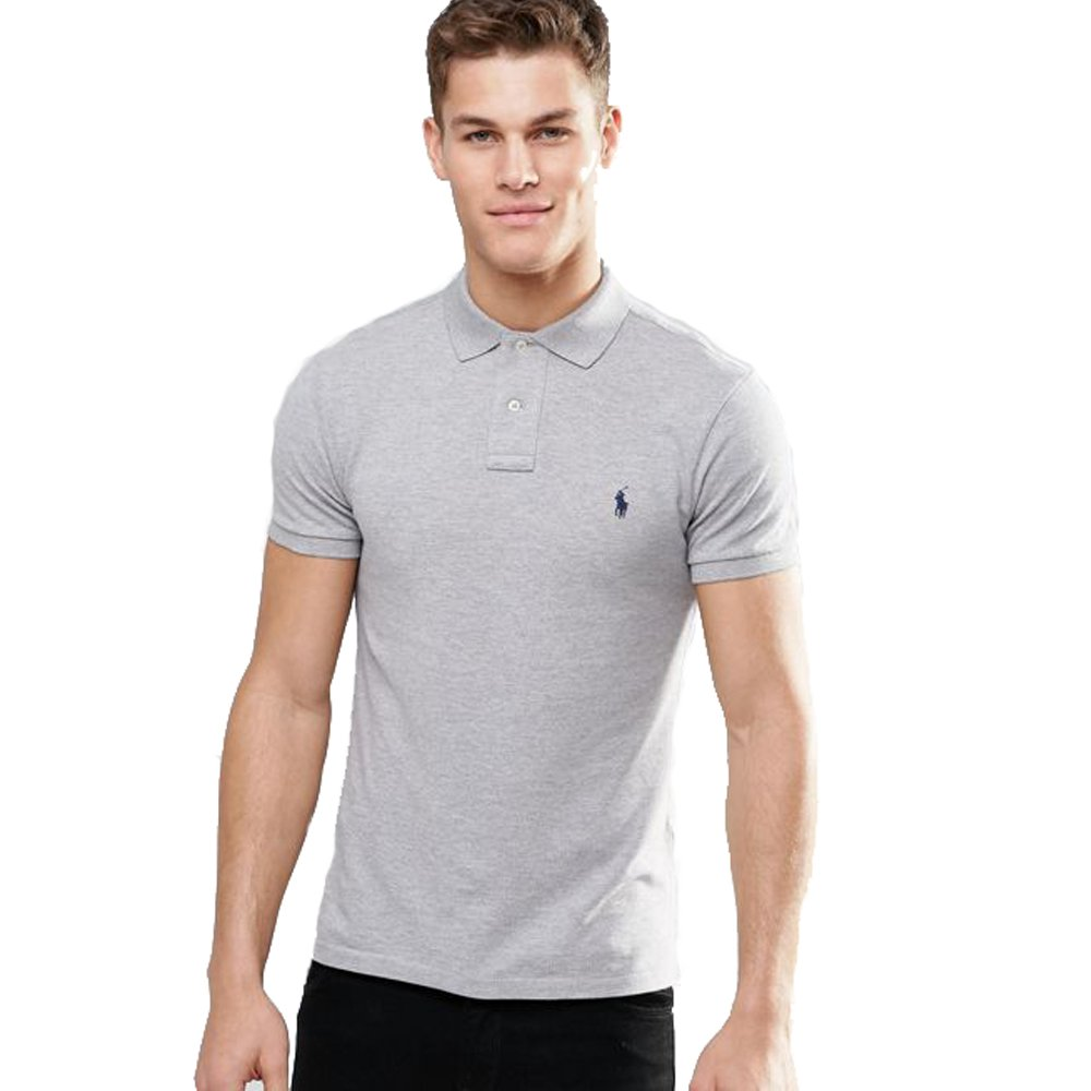 Ralph Lauren Polo Small Pony Slim Fit (M, Gris): Amazon.es: Ropa y ...