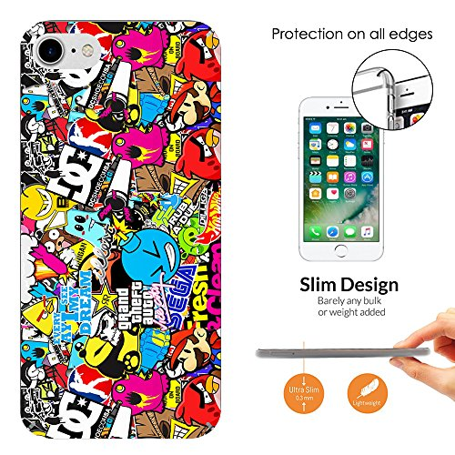 000589 - Stickerbomb Sticker Bomb Cool Funky Design iphone 6 Plus/iphone 6S Plus 5.5