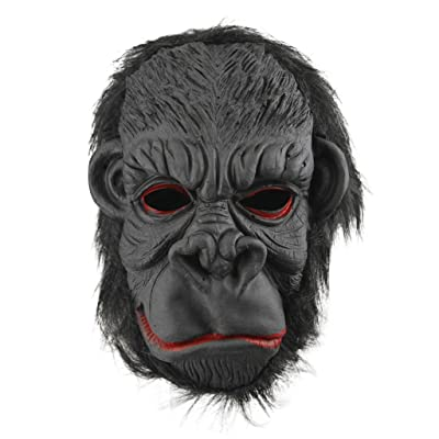 Halloween Party Cosplay Costume Porps Latex Smile King Kong Ape Full Head Mask: Clothing