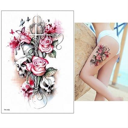 yyyDL Etiqueta engomada impermeable del tatuaje Brazo grande ...