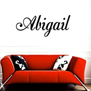 Abigail girl name boy name letters childrens room VINYL WALL ART STICKER DECAL