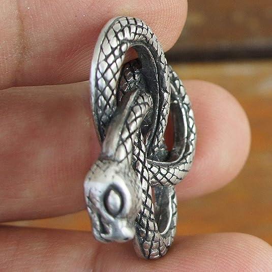 Celtic Double Headed Snake Serpent Sterling Silver Brooch
