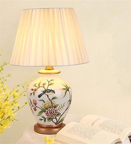 Lampara de mesa Lámpara de mesa de cerámica europea, mesa de ...