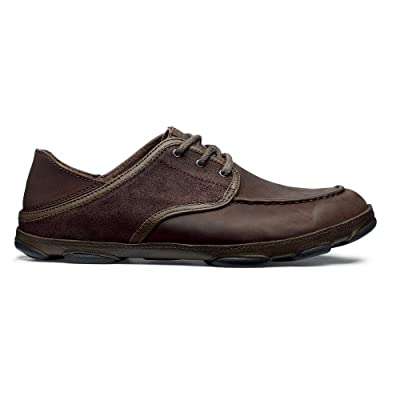 OLUKAI Mens Kupa'a, Coffee/Coffee/Dark Brown, 8.5 D | Shoes