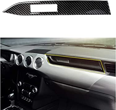 1x Start//Stop Carbon Black Switch Button Cover Trim for Ford Mustang 2015-2018