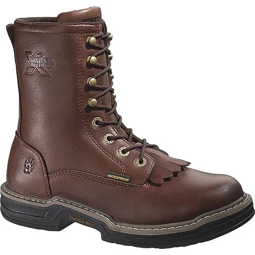 1495b0716b9 Wolverine Men's Buccaneer Waterproof Steel-Toe EH Kiltie Lacer Work Boot