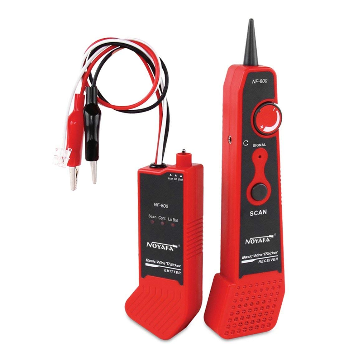 NF-800 RJ11 RJ45 Telecom Cable Dedicated Cable Tester Buscador de Cable de Red Probador de Cable de Metal Wire Tracker Kit de Herramienta de Diagnó stico Delicacydex