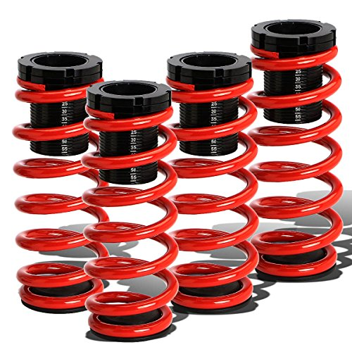For Volkswagen Golf/Jetta Mk2 4Cyl Adjustable Scaled Suspension Coilover (Red Springs)