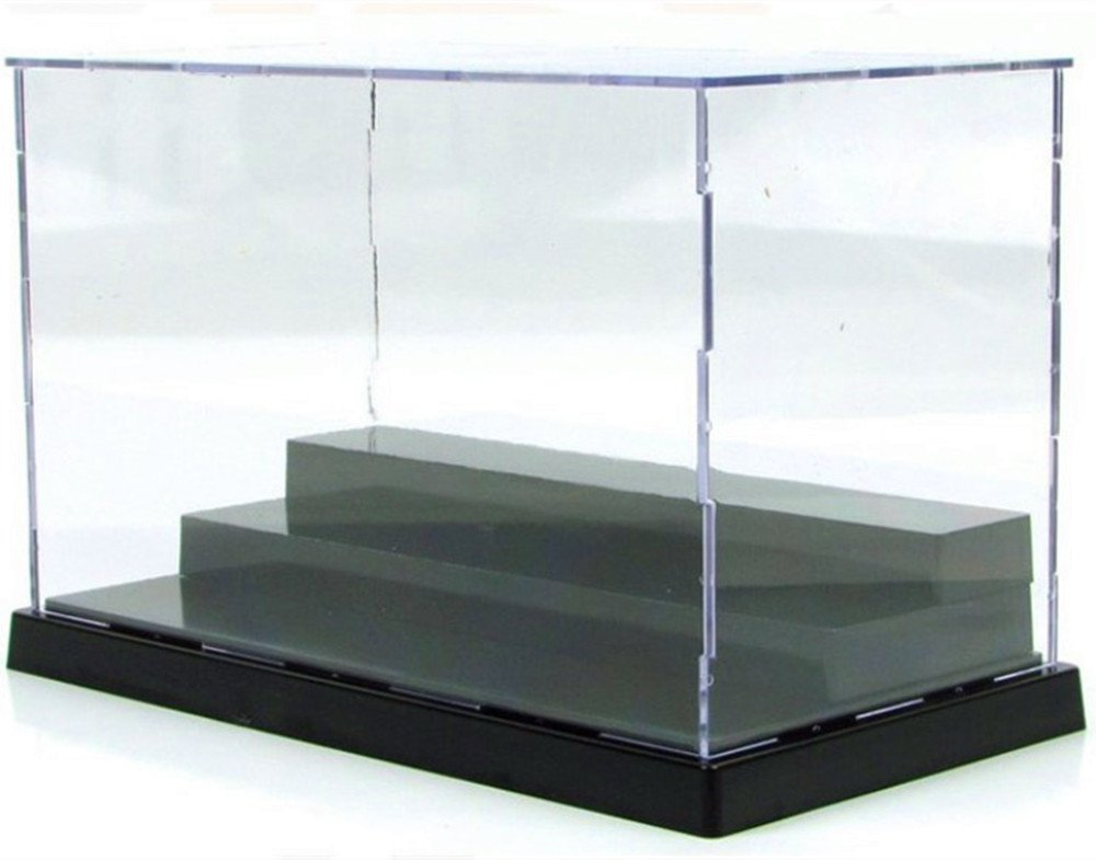 KENGEL 8x4x5 Inch Assembly Transparent Clear Acrylic Toys Three Layers Display Dustproof Protection Showcase Case Box