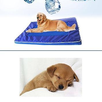 Alfombrilla de refrigeración para mascotas Bulary con malla de refrigeración para cama de mascota, sofá