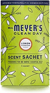 product image for Mrs. Meyer's Clean Day Air Freshening Scent Sachets, Fragrance for Lockers, Cars, and Closets, Lemon Verbena Scent, 3 ct