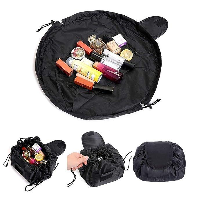 Bolso cosmético de la moda portátil, bolso de almacenamiento perezoso de la capacidad grande Bolso de lavado a prueba de agua del viaje de múltiples ...