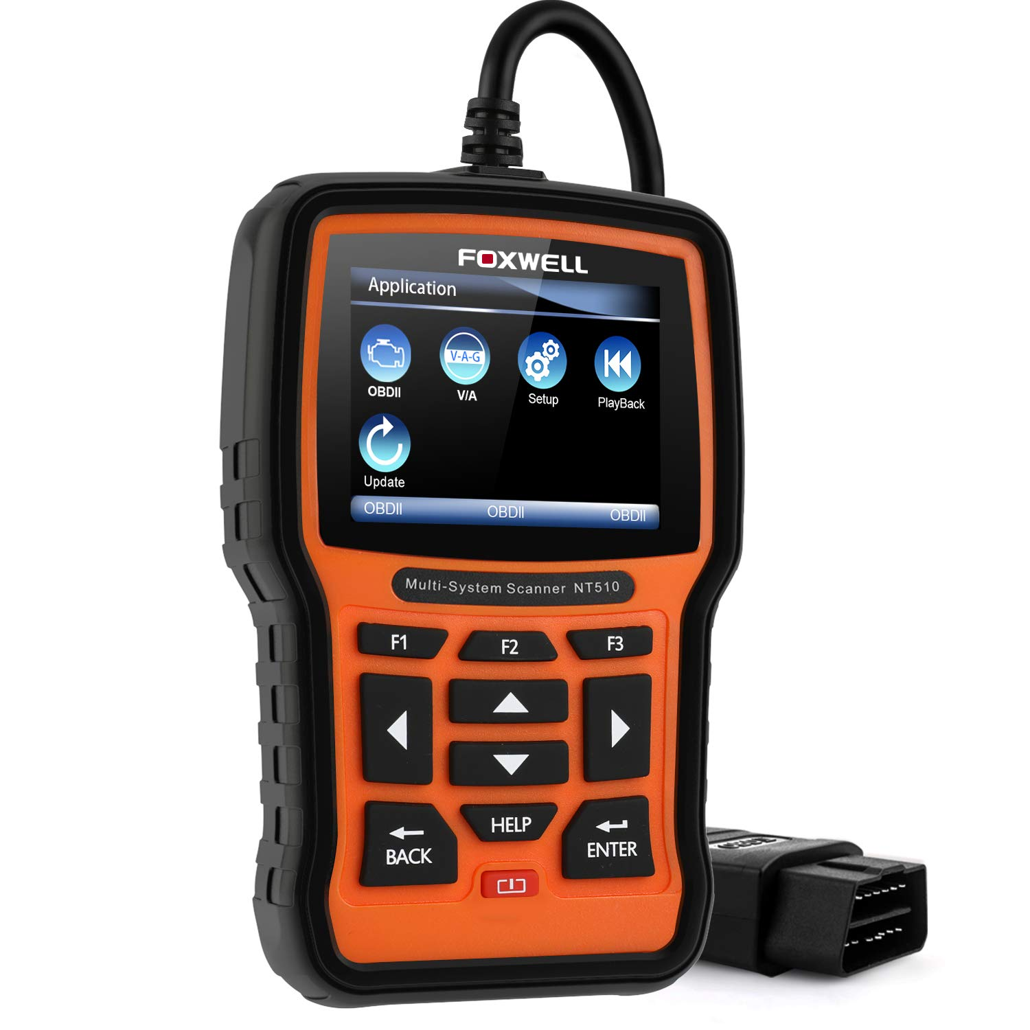 FOXWELL NT510 Pro Automotive Full System Diagnostic Scanner for VW Audi  Seat Skoda OBD2 Code Reader ABS SRS SAS EPB TPMS DPF BMS Transmission Oil