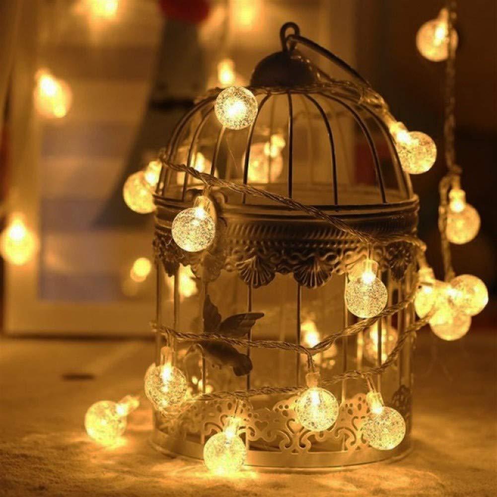 Lichterketten mit Fernbedienung for Weihnachten Hochzeit B/ühne Au/ßendekoration Lichterketten 10M-100 Birnen-Kugel Led Lichterketten Color : Yellow, Size : Battery 1.5M 10 Bulb Lichterketten