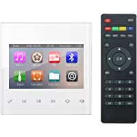 """HELMER Bluetooth Amplifier, Home Stereo Audio System, 3"""" Video Player in wall with Touch Key, White, BM200"""