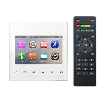 """HELMER Amplificador Bluetooth, Sistema de Audio estéreo en casa, 3"""" Reproductor de vídeo"""
