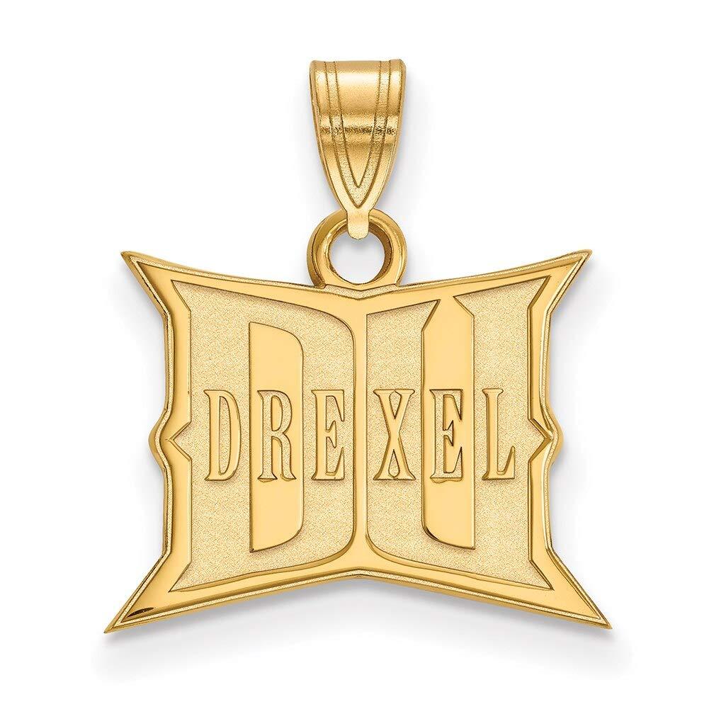 Lex /& Lu LogoArt 14k Yellow Gold Drexel University Small Pendant LAL135609