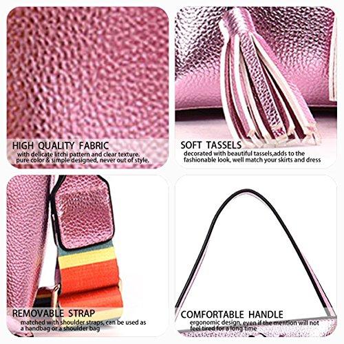 And Bags And Shoppers Women Shoulder Pink Clutches Shoulder Bag Purses Handbags 8gqft