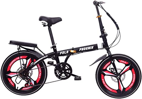 ZXNM Turno Plegable Bicicleta,Freno de Doble Disco Bicicleta,16/20 ...